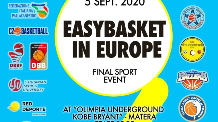 Easybasket In Europe – FINAL SPORT EVENT il 5 settembre 2020 a Matera